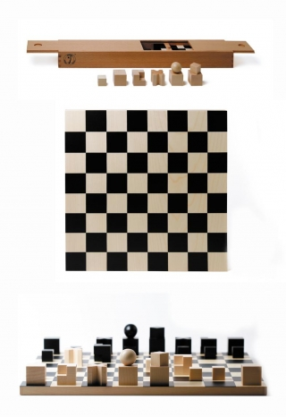 Bauhaus chess pieces