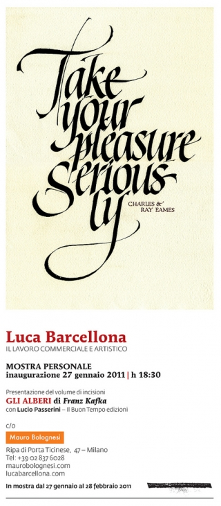 Take Your Pleasure Seriously by Luca Barcellona