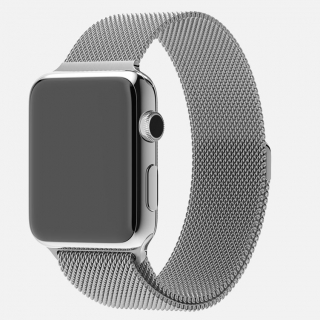 Apple Watch - Stainless Steel with Stainless Milanese Loop