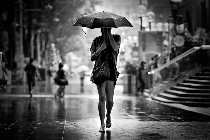 Walk in the rain by Danny Santos II