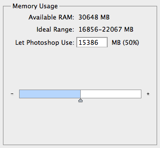 Photoshop Memory Usage