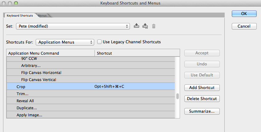Photoshop - Shortcuts