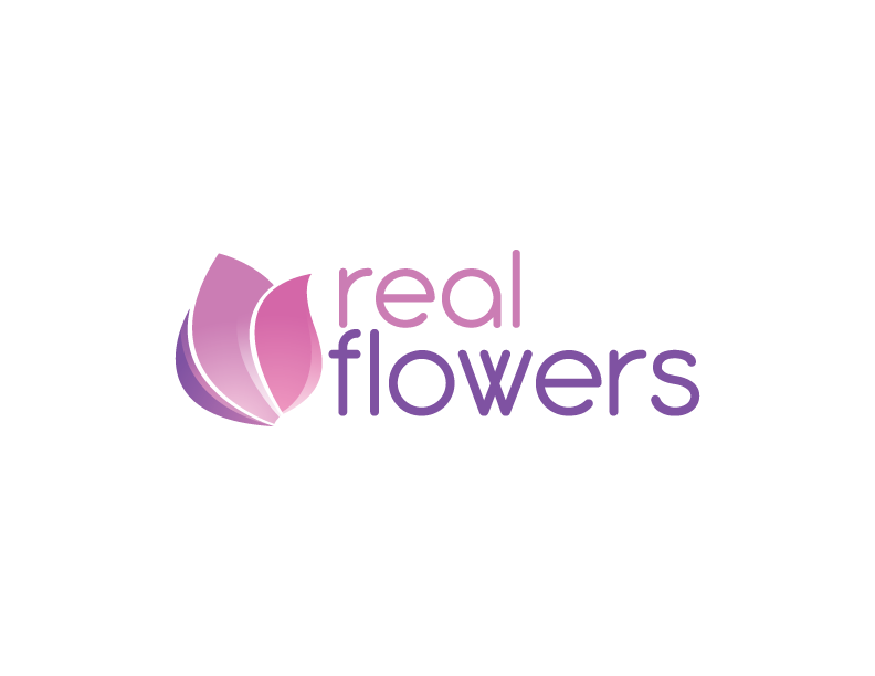 Logo Real Flowers Peter Yee Designer Web Developer